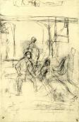 The death of Ivan Mazepa. Sketch